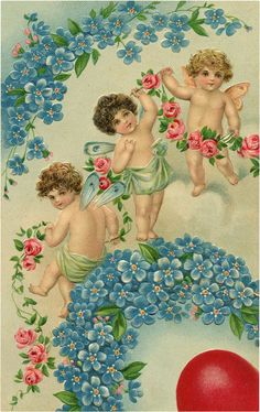 A collection of 8 Vintage Valentine Fairy Images. Valentine's Day isn't just for Cherubs, these cute Fairies are ready to spread some love as well! Valentine Picture, Valentine Images, Vintage Valentine Cards, Cupid Images, Victorian Valentines, Cute Fairy, Vintage Fairies, Graphics Fairy, All Nature