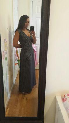 Drop waisted long dress