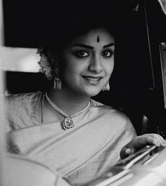 Mana Keerthy Suresh: Keerthy Suresh in Saree with Cute Smile in Mahanati Kirthi Suresh, Sari Dress, Phone Quotes, Cute Boys Images, Lovely Smile, Celebrity Drawings, Most Beautiful Indian Actress, Latest Images, India Fashion