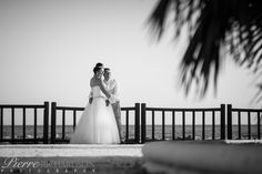 Bride & Groom at Sunset Beach Club Promenade