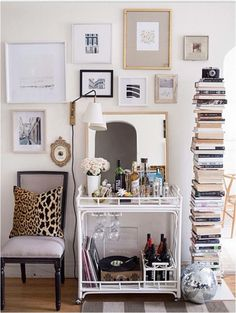chic way to style your vanity.