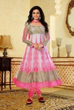 Rakul Preet Designer Anarkali Suit Salwar Kameez Semi-Stitched Dress Material