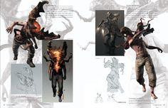Imagen del Glava-Smech y del Glava-Begunats en el libro de arte de Resident Evil 6. Estos enemigos surgen de la mutacion de un J'avo a una criatura con caracteristicas parecidas a un escarabajo y cigarra respectivamente. ///  Image of the Glava-Smech and of the Glava-Begunats in the Resident Evil 6 Artbook.  These enemies are the result of a J'avo mutating into a creature that looks like a beetle and a cicada respectively.