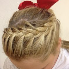Cheer hair! Or just a cool pony.
