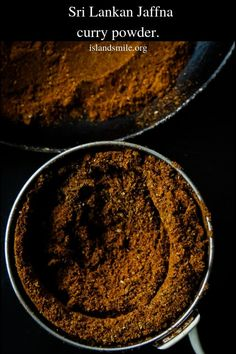 Sri Lankan Jaffna curry powder- a wonderful, aromatic all in one curry powder. If you are into deep, spicy flavors to your meat dishes then look no further than this spice blend. It's a must-have on every spice lovers shelf. Homemade Spice Blends, Homemade Spices, Homemade Seasonings, Spice Mixes, Masala Powder Recipe, Masala Recipe, Sauces, Spice Combinations, Masala Spice