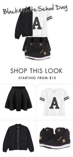 """""""Black&White School Day"""" by avalienho on Polyvore featuring Aéropostale, Monki, DC Shoes, comfortable and blessed"""