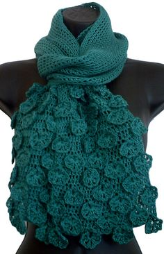 Ravelry: Fleurette Scarf pattern by Rhonda TurquoizBlue Davis, Tunisian Crochet