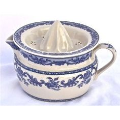 Blue Rose French toile china juicer