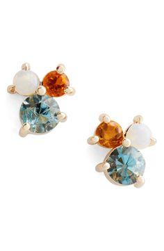 Aquamarine, Citrine & Opal Earrings | Mociun for Nordstrom