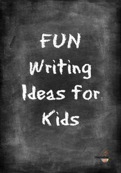 I need to try these ideas with my kids! Fun writing ideas for kids.