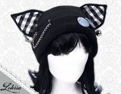 Unique Fashion-finds designed & handmade in USA CA! Anime Cosplay, Best Cosplay, Costumes Japan, Cat Costumes, Punk Fashion, Grunge Fashion, Fasion, Fleece Hats, Ear Hats