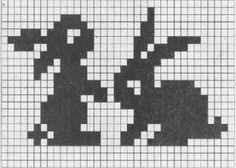 Risultati immagini per knitting chart kuvio Filet Crochet, Marque-pages Au Crochet, Crochet Cross, Tapestry Crochet, Crochet Chart, Crochet Rabbit, Fair Isle Knitting Patterns, Knitting Charts, Knitting Stitches