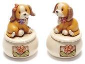 Scatolina portaoggetti con cane - Set da 4