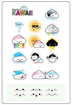 free vectors graphics - Free 12 Vector Weather Kawaii
