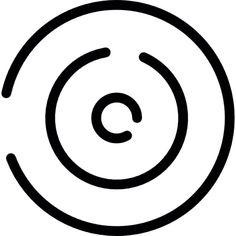 Circular maze outline