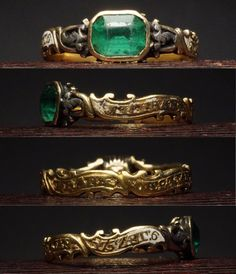 An emerald set mourning ring from 1757 now on the site! Instagram shop link in bio.