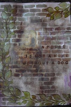 art journal  (a house is not a home without three cats, or, a house needs not two but three cats to make it a home)