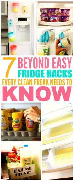 These 7 fridge hacks from the experts are THE BEST! I'm so happy I found these…
