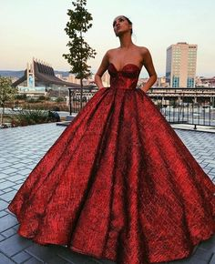 (notitle) - Gowns & Evening Dresses by Aarianna Red Ball Gowns, Ball Gown Dresses, Dress Up, Prom Dresses, Formal Dresses, Dress Prom, Quinceanera Dresses, Elegant Dresses, Pretty Dresses