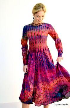 Shibori Dress - Carter Smith Designs