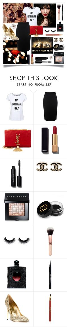"""""""New Year Style"""" by dead-legacy ❤ liked on Polyvore featuring Bebe, IVI, Dead Legacy, Alexander McQueen, Yves Saint Laurent, Chanel, Bobbi Brown Cosmetics, Gucci, Givenchy and Sebastian Milano"""