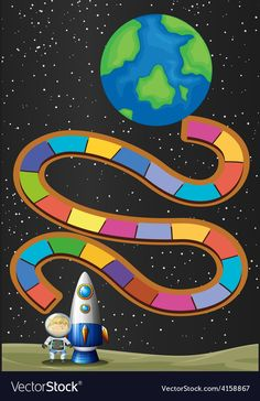 Board Game Template, Printable Board Games, Fun Educational Games, Kids Learning Activities, Space Party, Space Theme, Make Your Own Game, Space Classroom, Class Decoration