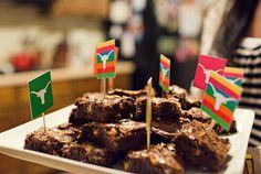 Fiesta / Texas themed cupcake (or brownie!) tags