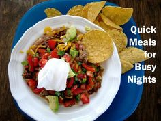 Quick Meals for Busy Nights - Click image to find more popular food & drink Pinterest pins