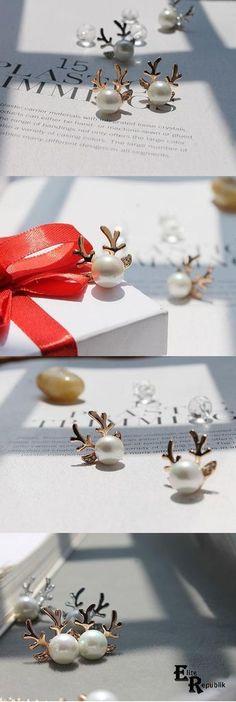 antlers earrings
