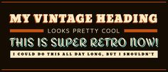 Vintage Typography, Typography Design, Pretty Cool, How To Look Pretty, Shadows, Fonts, Retro, Designer Fonts, Type Design