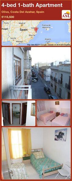 Apartment for Sale in Oliva, Costa Del Azahar, Spain with 4 bedrooms, 1 bathroom - A Spanish Life Apartments For Sale, Murcia, Independent Kitchen, Double Bedroom, Entrance, Lounge, Bathroom, Life