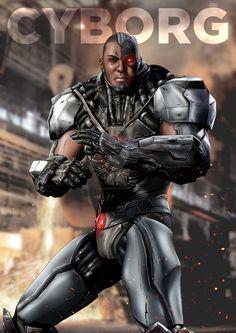 Injustice Cyborg by on DeviantArt Cyborg Dc Comics, Dc Comics Heroes, Dc Comics Art, Marvel Dc Comics, Marvel Heroes, Marvel Vs, Hq Dc, Superman Art, Black Comics