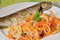 Pstruh pečený v alobalu Spaghetti, Ethnic Recipes, Food, Essen, Meals, Yemek, Noodle, Eten