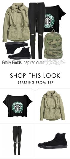 """Emily Fields inspired outfit/PLL"" by tvdsarahmichele ❤ liked on Polyvore featuring H&M, Ally Fashion, Converse and Billabong"