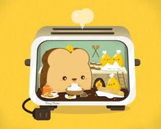 Workings of a Toaster by orangecircle.deviantart.com on @deviantART Vector illustration