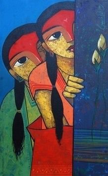 Ganesh Patil born in Pune, Maharashtra - India Modern Indian Art, Indian Folk Art, Indian Artist, Modern Art, Contemporary, Arte Tribal, Tribal Art, Acrylic Painting Canvas, Canvas Art