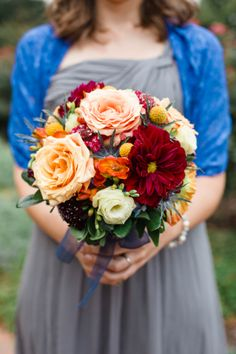 pretty bouquet http://trendybride.net/page-walker-arts-and-history-center-cary-nc-wedding/ #flowers