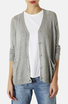 Topshop Boxy Knit Cardigan available at #Nordstrom