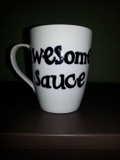 Awesome Sauce Coffee Mug Funny Coffee Lover by ByJusteenCrafts