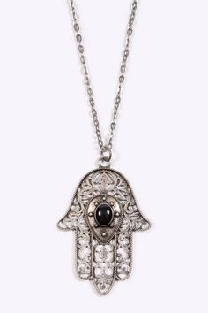 Large Hamsa Hand Necklace