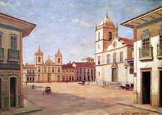Essa imagem é obra do pintor Benedicto Calixto, baseada na imagem registrada por Militão Augusto de Azevedo no ano de 1865.