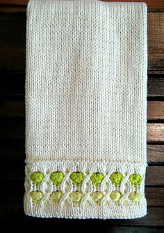Free Knit Pattern: Bubble Up Towel by Susan Luni.