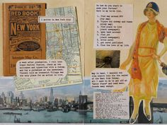 This is a page from a scrapbook novel! 'The Scrapbook of Frankie Pratt' is a story set in 1920s New York in scrapbook form. There are some fun layouts to use in your own scrapbooking too.