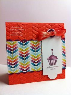 Happy birthday cupcake! vine street and apothecary framelits. Stampin' up!