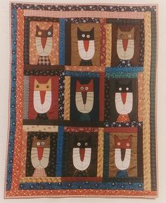 Alley Cat Tales Cat Crafts, Sewing Crafts, Cat Quilt Patterns, Alley Cat, Animal Quilts, Custom Quilts, Small Quilts, Applique Quilts, Baby Quilts