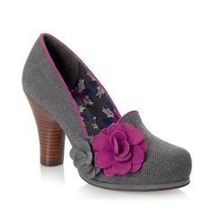 A shoe to get you noticed, Thelma features tweed and prints.