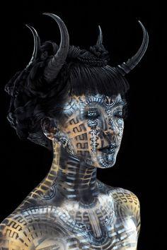 Crazy future tech body paint