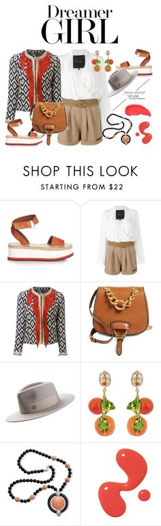 """""""#rooftopbar #summerdate"""" by chrisger ❤ liked on Polyvore featuring STELLA McCARTNEY, Jay Ahr, Bazar Deluxe, Miu Miu, Maison Michel, Dolce&Gabbana, Kenneth Jay Lane and Urban Decay"""