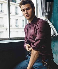 Landons been told many times he looks like Ansel.