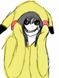Jeff The Killer In A Cute Pikachu Hoodie by Squishii123 on deviantART